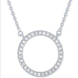 New! Macys Diamond Circle Pendant Necklace